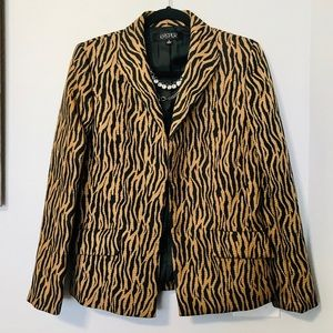 Tiger Striped Blazer